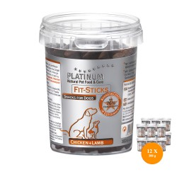 12 x PLATINUM Fit Sticks Chicken and Lamb 300g