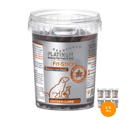 6 x Platinum Fit Sticks Chicken and Lamb 300g