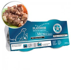 4 x Platinum Menu Mini Fish & Chicken 100 gr
